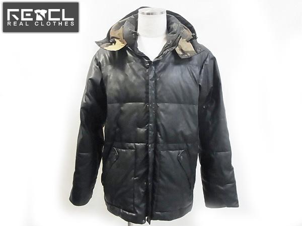 HECTIC/ヘクティク 合皮 ダウン混ジャケット/ブラック/XL