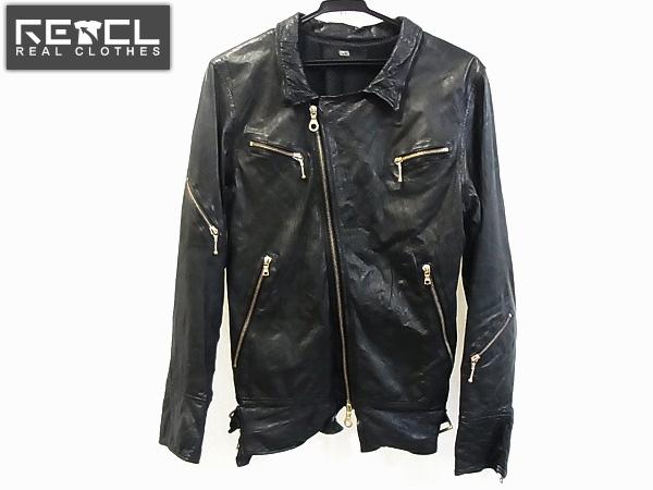 IZREEL×DRESTRIP レザージャケット/アウター/ライダース/黒/S