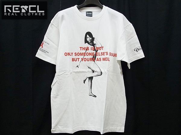 実際に弊社で買取させて頂いたDEVILOCK/デビロック ×レッドリボン 白Tシャツ 吉沢明歩/L