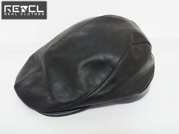 実際に弊社で買取させて頂いたコラボ BACKLASH×DHYANA カーフレザーハンチング/帽子 2/394-03