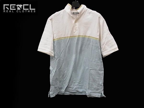 HECTIC/ヘクティク ハーフボタン/半袖ポロシャツ ツートン L