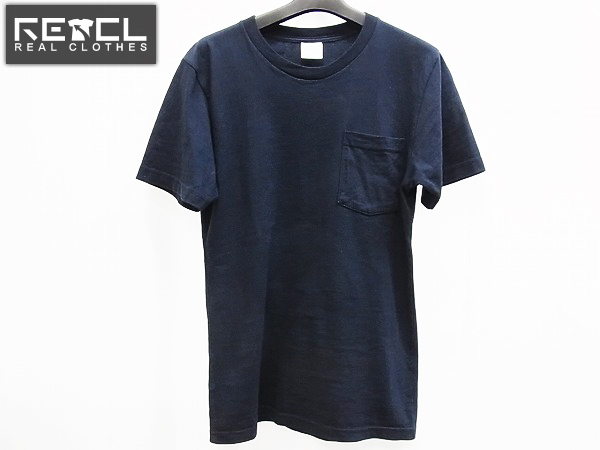 SUPREME×ANTI HERO 14SS ポケット付き半袖Tシャツ ネイビー S