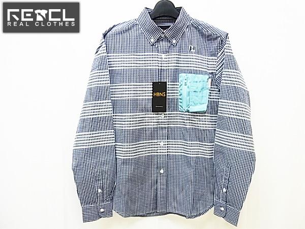 【未使用】HABANOS/ハバノス ギンガムチェックシャツS13-SH05/S