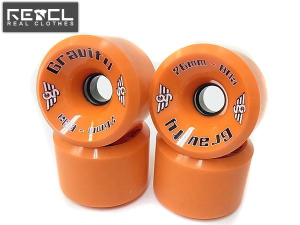 GRAVITY/グラビティ HI-GRADE スケートボードウィール 橙/76mm