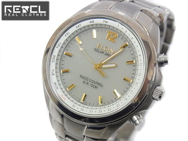 ELGIN/エルジン アナログ腕時計 チタン シルバー FK-1220-GP