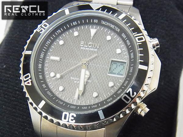 ELGIN/エルジン 電波ソーラー デジアナ 腕時計/FK-1363S-AP