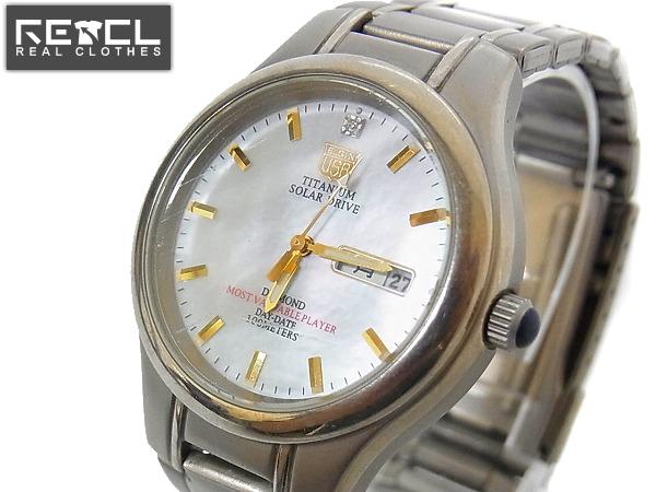 ELGIN/エルジン ソーラードライブ メタルバンド腕時計FK-1251-C
