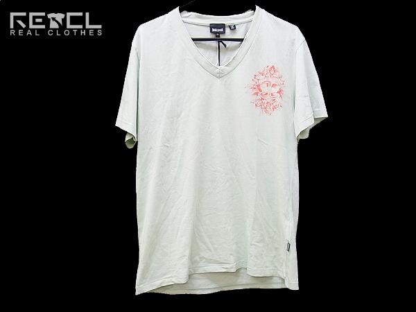 [未使用]Just Cavalli/ジャストカヴァリ 半袖Tシャツ 黄緑 L