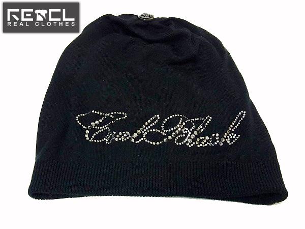 COAL BLACK/コールブラック ロゴ入りシルクニットキャップ 黒 F