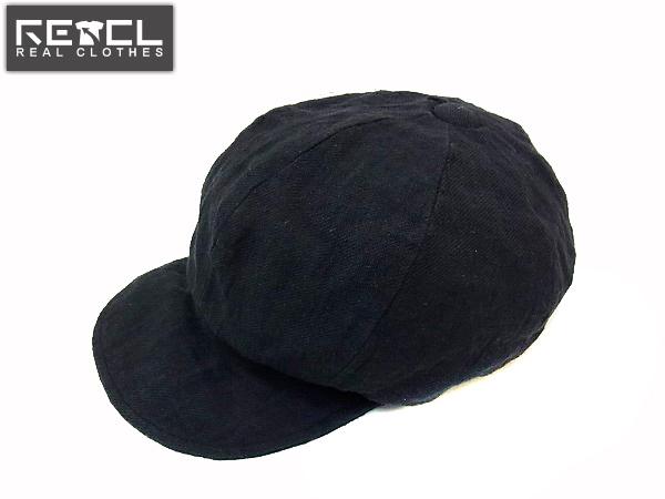 COAL BLACK/コールブラック リネンキャスケット ブラック M
