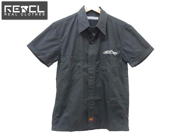 ブラックトップモーターサイクル 半袖刺繍シャツ ブラック/S