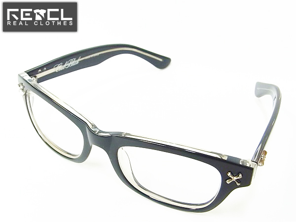 実際に弊社で買取させて頂いたCoal Black/コールブラック 伊達 黒縁 メガネフレーム/眼鏡
