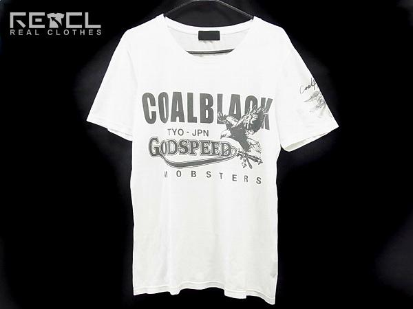 COALBLACK/コールブラック 半袖英字プリントTシャツ 白/L