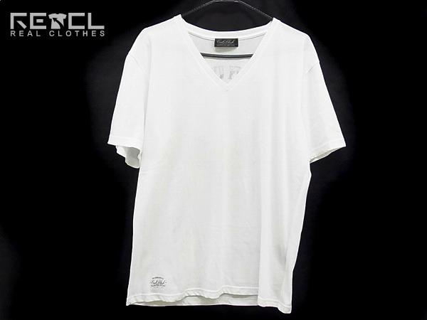 COALBLACK/コールブラック 半袖背プリントVネックTシャツ 白/L