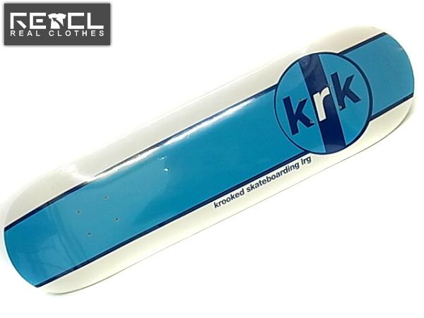 実際に弊社で買取させて頂いた【未使用】KROOKED/クルキッド krkスケートボードデッキ/板/白