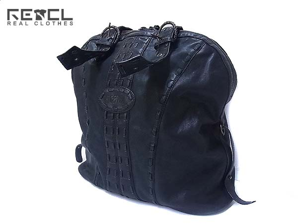 JUST CAVALLI/ジャストカヴァリ レザーバッグ 鞄 ブラック