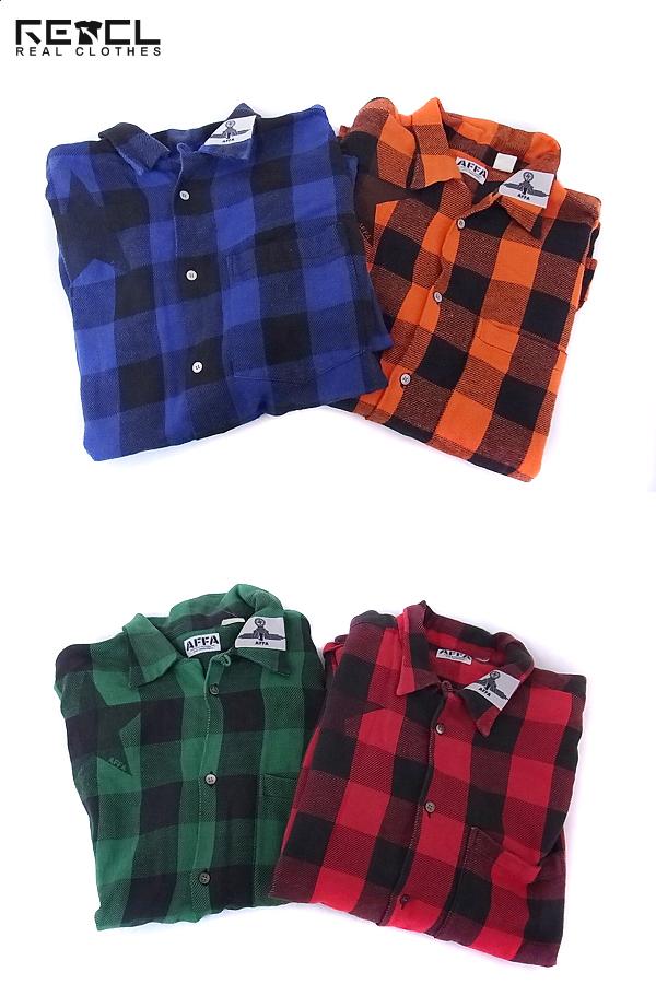 AFFA/エーエフエフエー ブロックチェックシャツ 4点セット