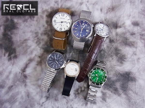 エルジン/オリエント他 革/メタルバンド 腕時計 6点セット