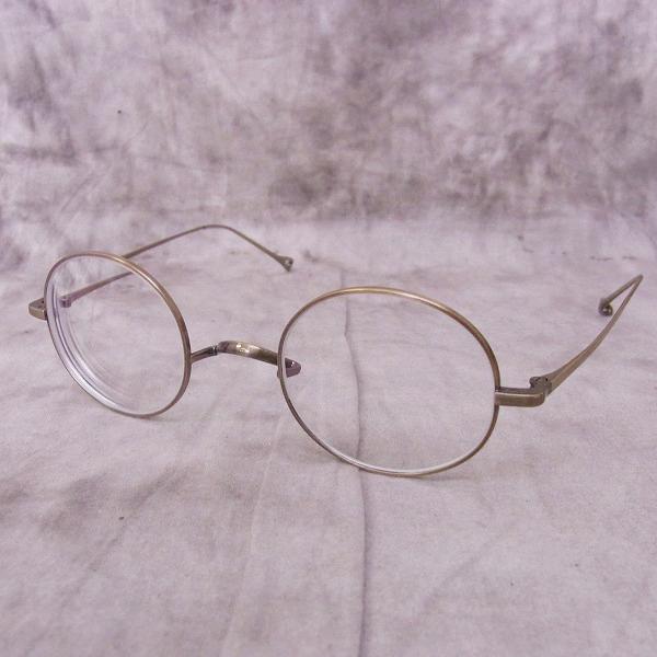 金子眼鏡 井戸多美男作 ラウンド型金属フレーム/めがね アンティークゴールド T461