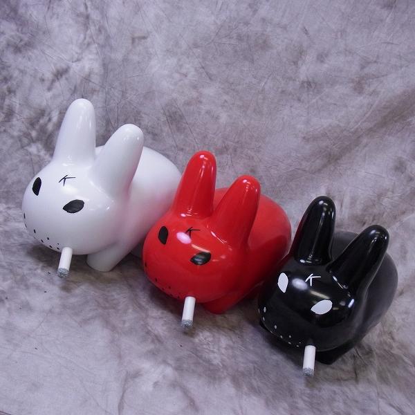 コジック×キッドロボット ラビットフィギュア ホワイト/レッド/ブラック/3点SET