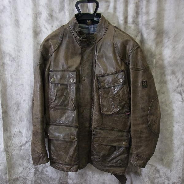 BELSTAFF/ベルスタッフ M-65 カウレザー フィールドジャケット ウエストベルト ブラウン/M