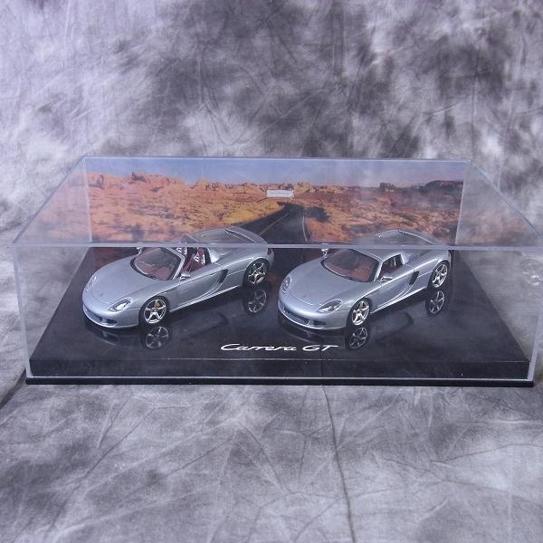 MINICHAMPS/ミニチャンプス 1/43 ポルシェ カレラ GT オープン/クローズド セット 2003 特注品