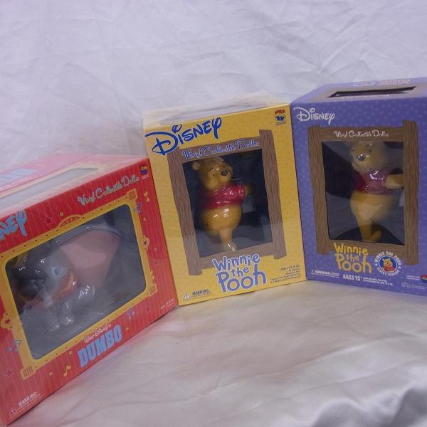 【未開封】メディコムトイ VCD ディズニー DUMBO/ダンボ Pooh/くまのプーさん フィギュア 3点SET